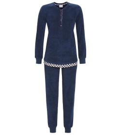 Pyjama long boutonné MARINE