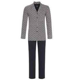 Pyjama homme boutonné GRIS BORDEAUX