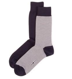 Lot de deux paires de chaussettes MARINE/BLANC