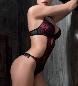 Trikini Push-up et string Frange NOIR RUBIS