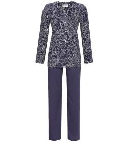 Pyjama boutonné pour femme BLEU