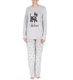 Pyjama manches longues pour femmes GRIS