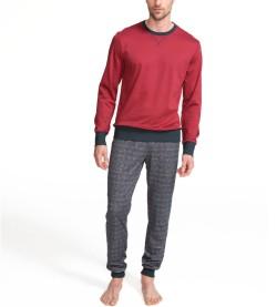 Pyjama long resseré pour homme BORDEAUX