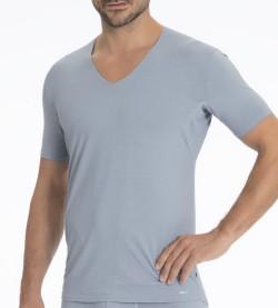 T-Shirt col V pour homme GRIS