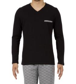 Pyjama long homme Kaleido NOIR