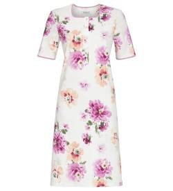 Chemise de nuit imprimé floral BLANC/ROSE