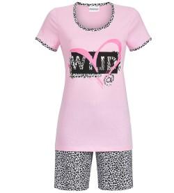 Pyjama court WILD pour femme ROSE