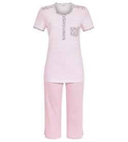 Pyjama corsaire rayé pour femme ROSE