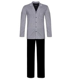 Pyjama long entièrement boutonné GRIS