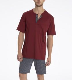 Pyjama short pour homme Sidney BORDEAUX