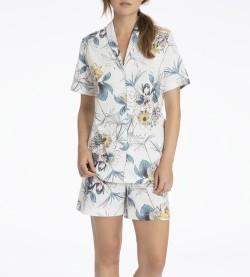 Pyjama short pour femme Dalia BLANC/MARINE
