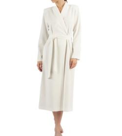 Robe de chambre croisée pour femme 13IVOIRE