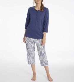 Pyjama corsaire Sandrine pour femme BLEU BLANC 377