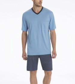 Pyjama short Larry pour homme MARINE