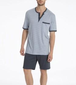 Pyjama short col tunisien Morris GRIS 983