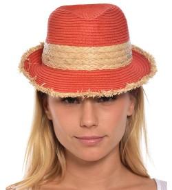 Chapeau de plage Braxton PAPRIKA