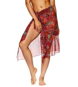 Paréo robe de plage Bailar ROUGE