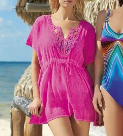Tunique de plage pour femme FUSHIA