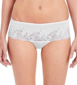 Shorty Tanga Lace Affair BLANC