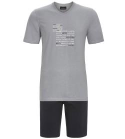 Pyjama short en coton pour homme GRIS