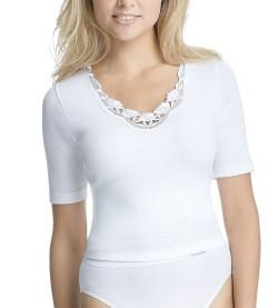 T-shirt en coton pour femme 20 BLANC