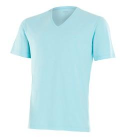 T-shirt coton manches courtes TURQUOISE