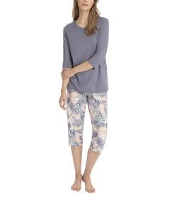 Pyjama 3/4 Marla pour femme GRIS PECHE 387