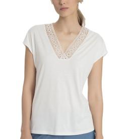 T-shirt manches courtes pour femme ECRU