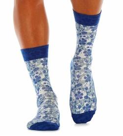 Chaussettes homme Blue Flowers IMPRIME