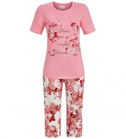 Pyjama corsaire pour femme ROSE