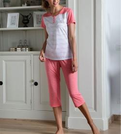Pyjama corsaire pour femme CORAIL