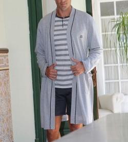 Robe de chambre croisée pour homme GRIS