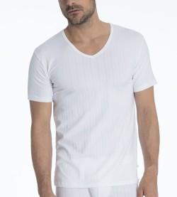 T-shirt col V Pure & Style BLANC 01