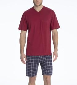 Pyjama court Glen pour homme BORDEAUX