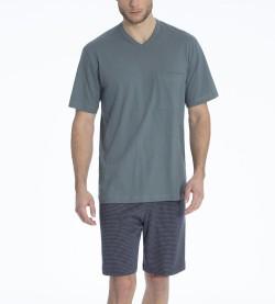 Pyjama court Glen pour homme TILLEUL 794