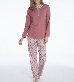 Pyjama en coton pour femme Enya 186 VIEUX ROSE