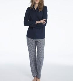 Pyjama en coton pour femme Enya MARINE