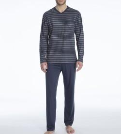 Pyjama long en coton Ferris MARINE