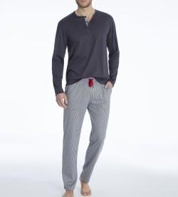 Pyjama long homme Kolia en coton GRIS