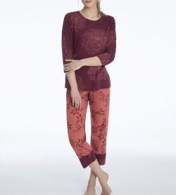 Pyjama femme Jaelle 205 BRIQUE BORDEAUX