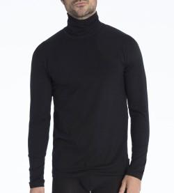T-shirt col roulé pour homme Focus NOIR 992