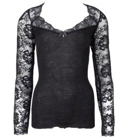 T-shirt Résille Lotus NOIR