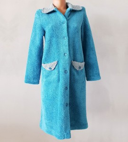 Robe de chambre bouclette femme TURQUOISE