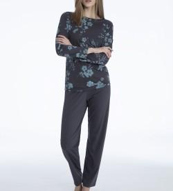 Pyjama en coton pour femme GRIS PERISCOPE 997
