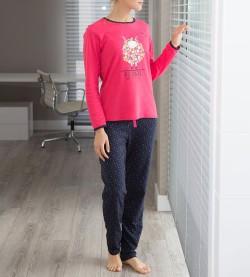 Pyjama fantaisie imprimé mouton CORAIL