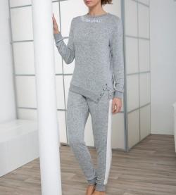 Pyjama look sport pour femme GRIS
