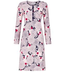Chemise de nuit motif floral MARINE ROSE