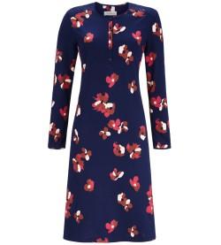 Chemise de nuit à motif fleuri MARINE FUSHIA