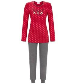 Pyjama motif Noel ROUGE GRIS