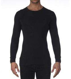 T-shirt manches longues laine/soie ANTHRACITE